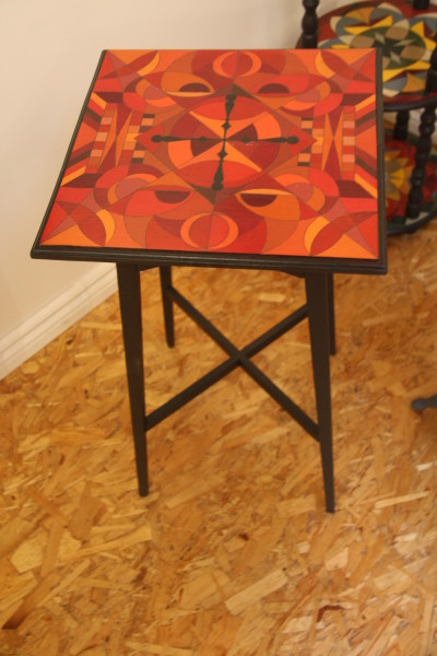 Side Table in Red