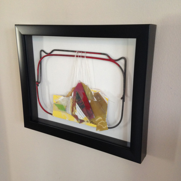 "Example of a Framed ""Intuitive Trainings"" wall sculpture"