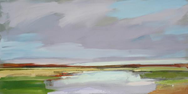 """""""Amethyst Sky"""" #2 over Ogunquit River Footbridge Beach, Moody, ME"""