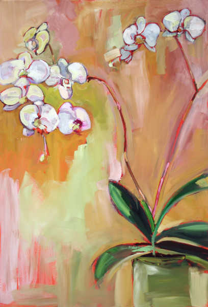 """Love Within"" White Orchid"