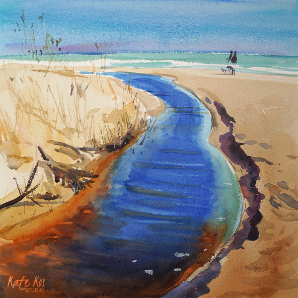Morriscastle Beach - Stream