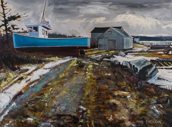 Blue Boat, Briggs Beach, Nova Scotia