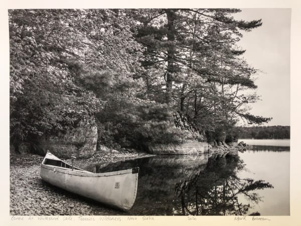 Canoe at White Sand Lake, Tobeatic Wilderness, Nova Scotia
