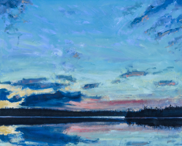 Night Coming, Whitesand Lake, Tobeatic Wilderness, Nova Scotia