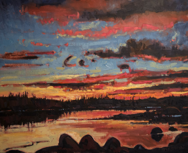 Sunrise, Peggys Cove Preservation Area, Nova Scotia