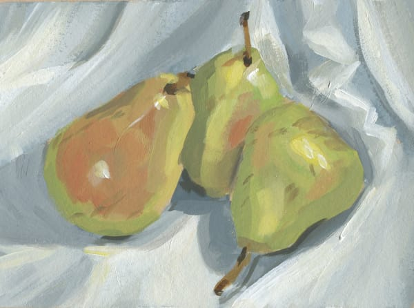 Pears on a White Cloth