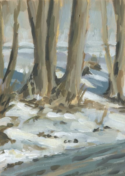 Winter Plein Air Snow Scene