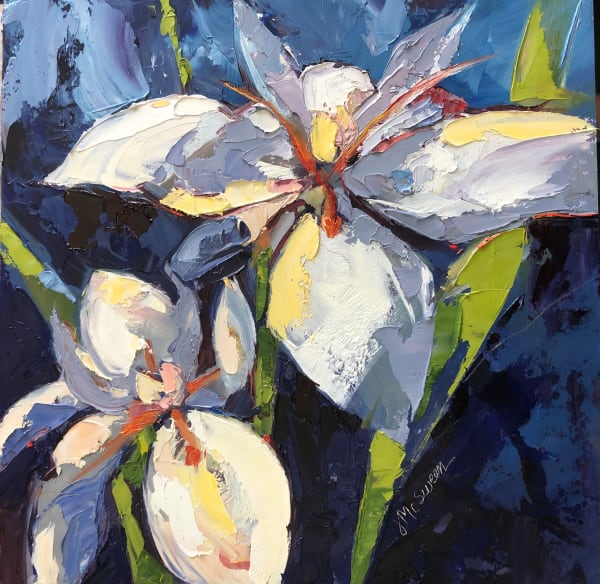 Lilies in Blue