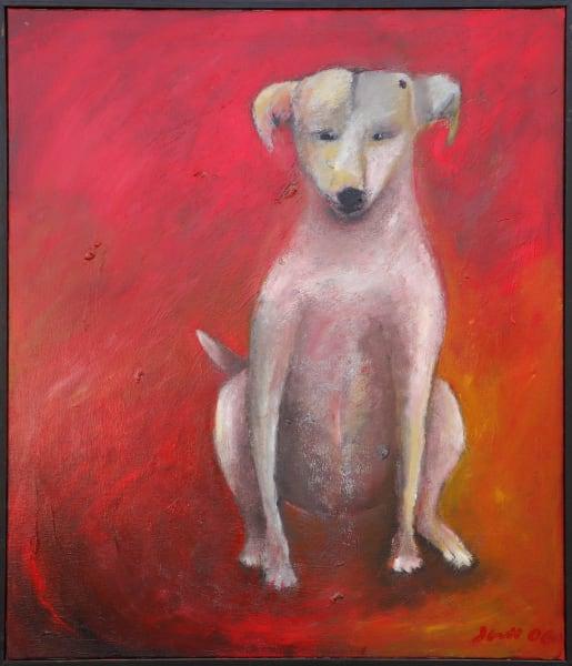 1341 Deja Red Dog (Framed)