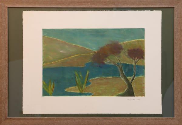 1342 Hills Tree Lake  Monotype (Framed)