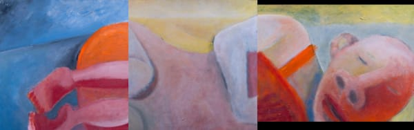 1070  Head, Body, Legs Rest -Triptych