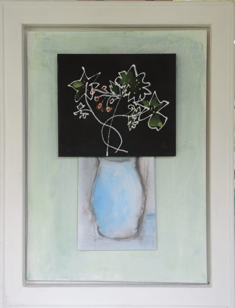CHA187,  Flowers + Vase No. 3