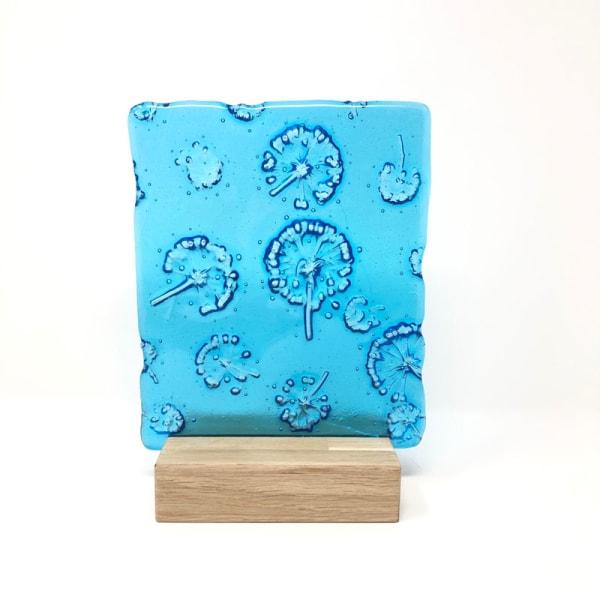 SHI260, Turquoise Fatsia in block