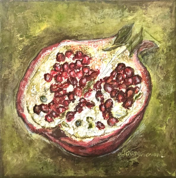 '' Overwhelming thoughts like the pleasant pop of a pomegranate seed''