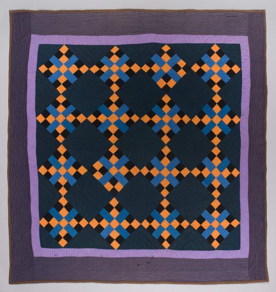 Amish Four Patch Cross Quilt