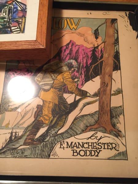 Original pulp art magazine cover