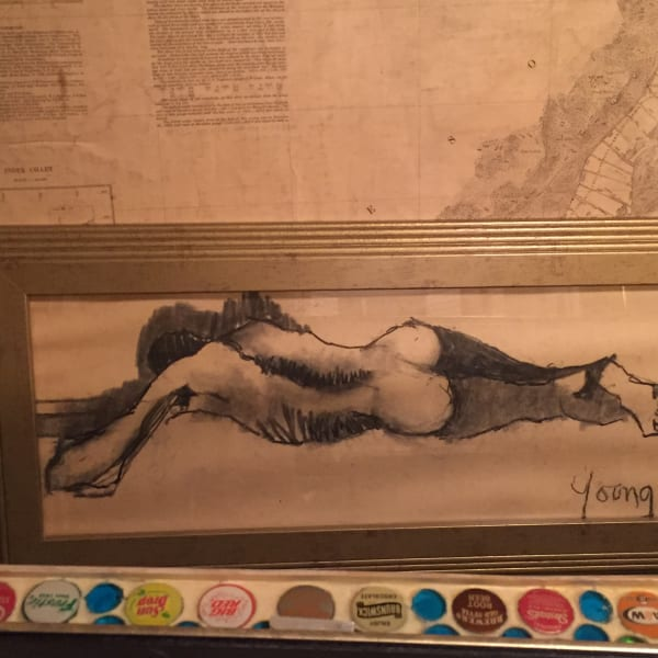 James Quentin Young original framed nude