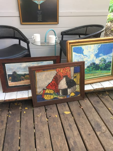 Framed James Quentin Young watercolor