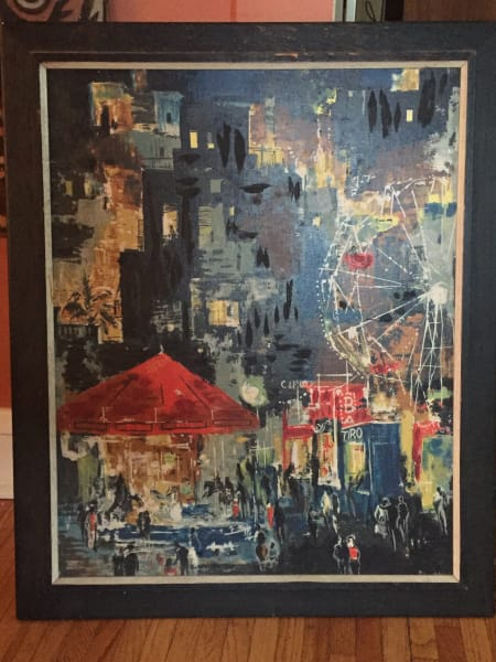 Framed painting by Jose Luis Florit
