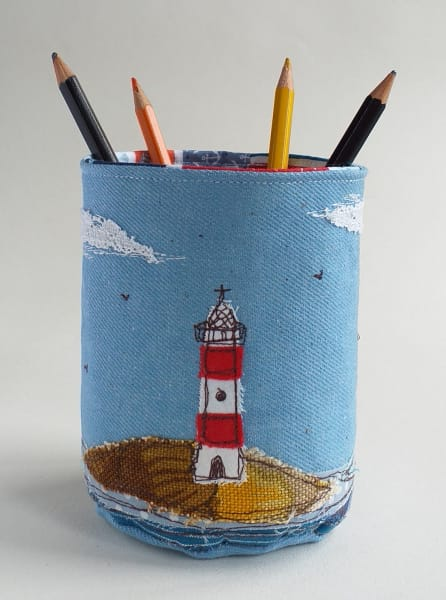 Fabric Pot with Lighthouse