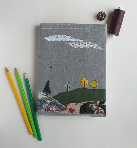Hardback Notebook with Trees on a Removable Cover