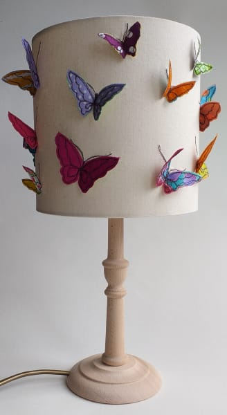 Table Lamp with 3D Butterflies Shade