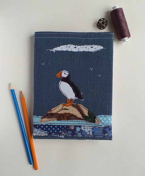 Hardback Notebook with a Puffin Removable Cover