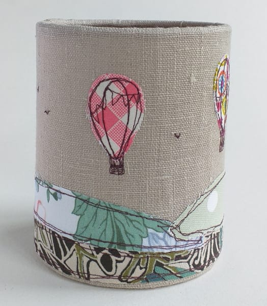 Lantern with Hot Air Balloons for battery tealight