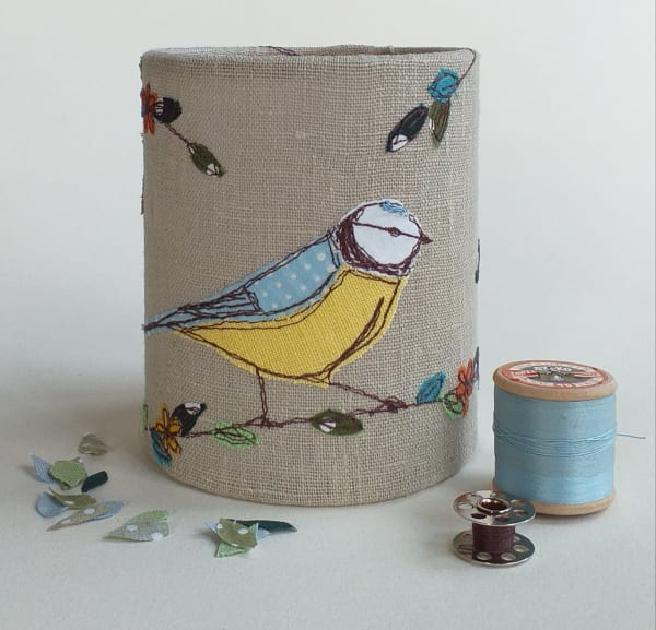 Lantern with Blue-tit for battery tealight