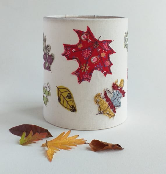 Lantern with Autumn Leaves for a battery tealight