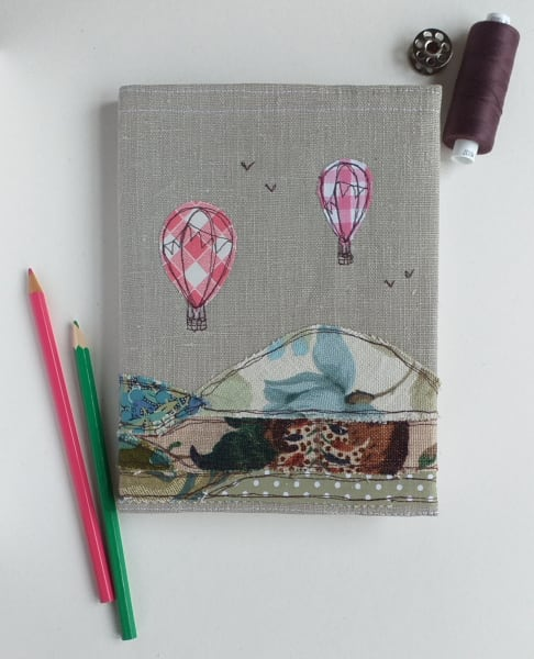 Hardback Notebook with a Hot Air Balloons Removable Cover