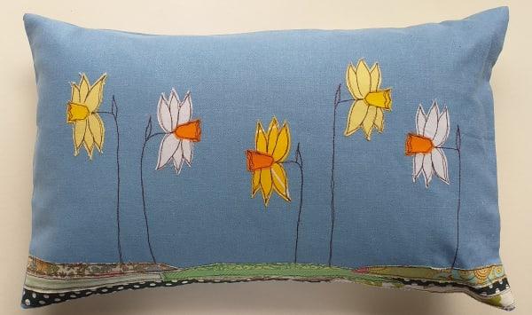 Cushion with Daffodils