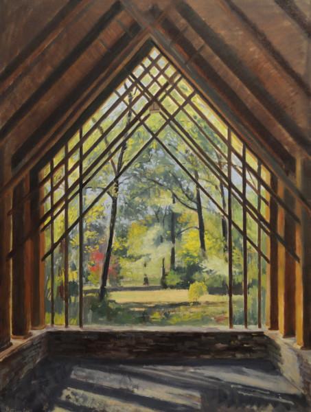 Blecken Pavilion in Fall- Memphis Botanic Gardens