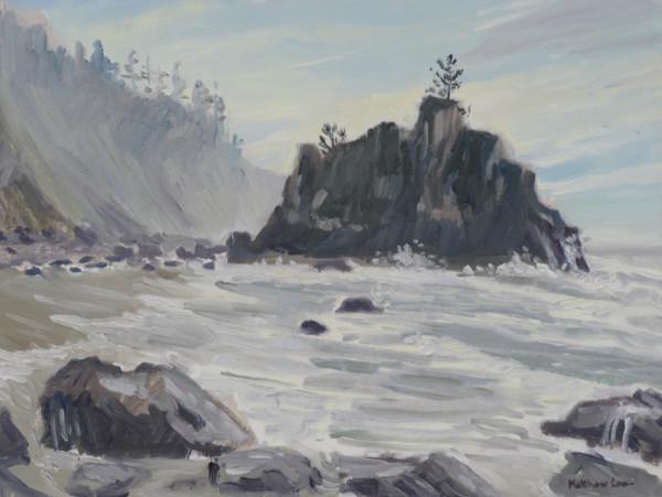 Tide Rushing In!  Coastal Trail, Oregon