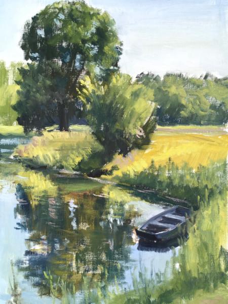Wandering Boat at Poplar Tree Lake- Meeman Shelby Forest
