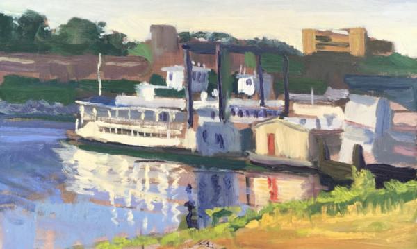 River Boats in Late Sun- Memphis Harbor