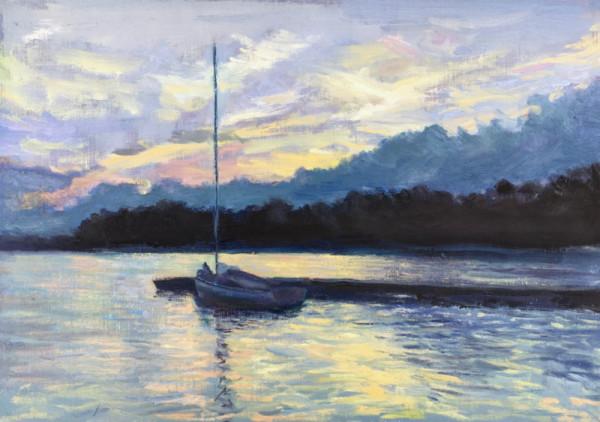 My Sailboat salutes the sunset