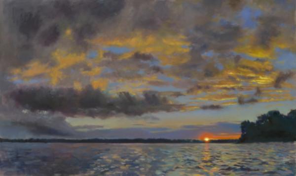 Golden Sunset on Arkabutla Lake