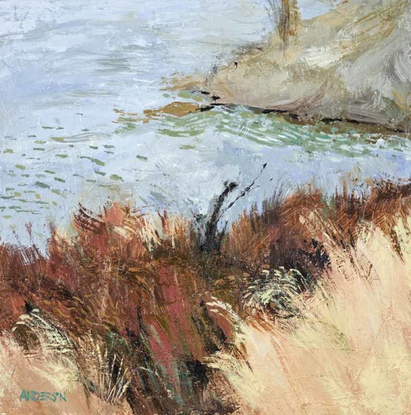 Red Grasses By The River