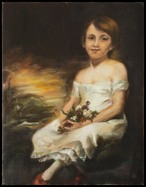 After Raeburn's Young Girl Holding Flowers
