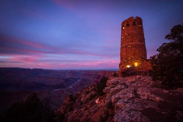 Desert View Watchtower at Sunset (Canvas)