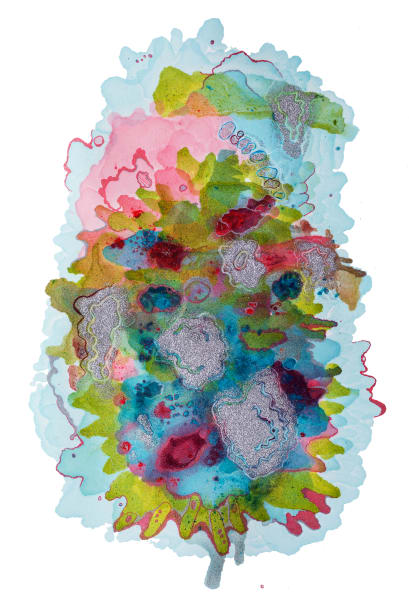 Alcohol Ink Drawing
