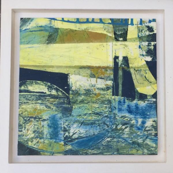 Undercurrent.    Oil painting in 25cm sq frame