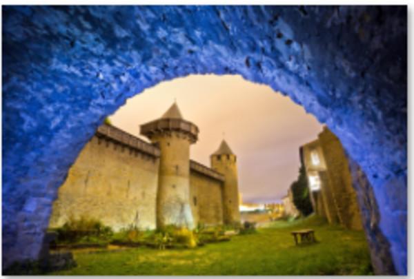 Dusk, Carcassonne, France