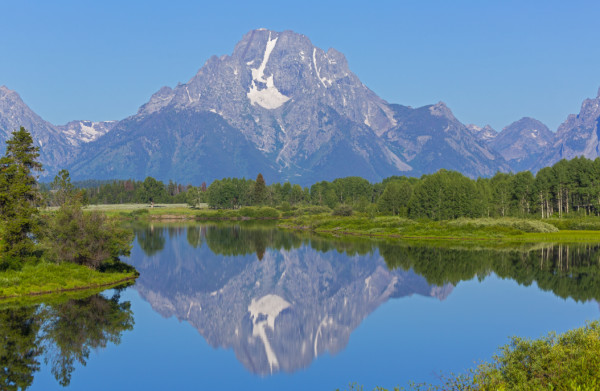 Pause to Reflect (Oxbow Bend, Grand Teton National Park)
