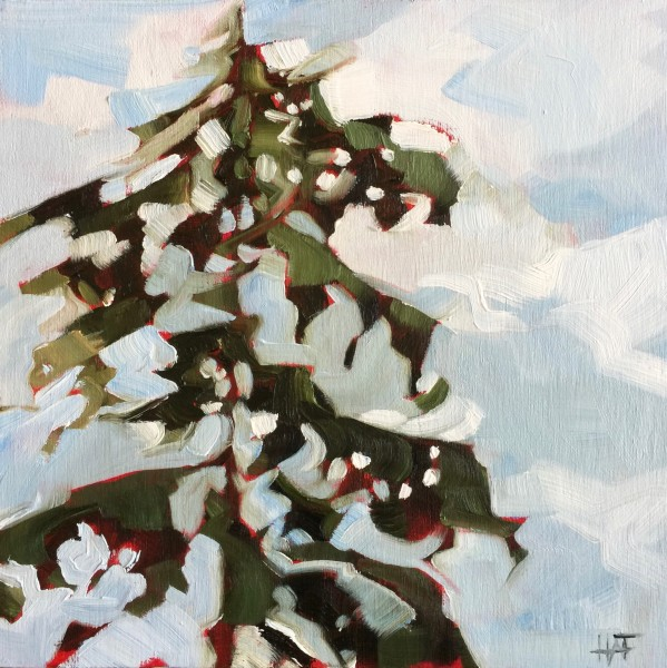 Pine on Red 2