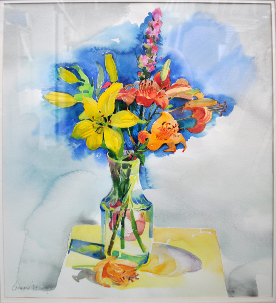 Untitled Painting (Lilies in a Vase)