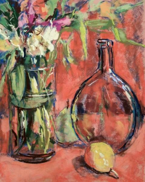 Flowers, Pear & Bottle