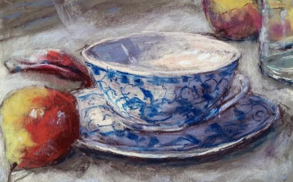 Pear & Blue Delft Cup