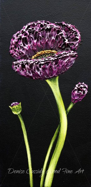 Small Works - Purple Poppy #851